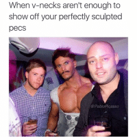 Memes, 🤖, and Pecs: When V-necks aren't enough to  show off your perfectly sculpted  peCS  @PabloPiqasso no pecs = no sex