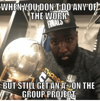 💀💀😭😭😂😂: WHEN VOU DON'T DO ANV OF  THE WORK  BUT STILL GET ANA ON THE  GROUPPROJECT  DOWNLOAD MEME GENERATOR FROM HTTP:/I  EMCRUNCH  .CO 💀💀😭😭😂😂