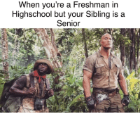Fresh, Meme, and Http: When vou re a Freshman in  Highschool but your Sibling is a  Senior Invest fresh. New meme, live the dream. via /r/MemeEconomy http://bit.ly/2Gi3Dis