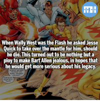 Batman, Jealous, and Memes: When Wally West was the Flash he asked Jesse  Quick to take over the mantle for him, should  he die. This turned out to be nothing but a  ploy to make Bart Allen jealous, in hopes that  he would get more serious about his legacy  IS BACK. WE NEED  TO SHUT HIM  DOWN, THE REST  CAN WAIT  EVERYBODY  GOOD WITH  THAT? Bart Allen and Jesse Quick! - My other IG accounts @factsofflash @yourpoketrivia @webslingerfacts ⠀⠀⠀⠀⠀⠀⠀⠀⠀⠀⠀⠀⠀⠀⠀⠀⠀⠀⠀⠀⠀⠀⠀⠀⠀⠀⠀⠀⠀⠀⠀⠀⠀⠀⠀⠀ ⠀⠀--------------------- batmanvssuperman xmen batman superman wonderwoman deadpool spiderman hulk thor ironman marvel greenlantern theflash wolverine daredevil aquaman justiceleague homecoming nightwing ezramiller wallywest redhood avengers jasontodd jessequick tomholland bartallen like4like injustice2