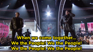 "Busta Rhymes, Target, and Tumblr: When we come together..  We the People! We the People!  We the People! Wethe People yahooentertainment:Busta Rhymes Refers to Trump as ""President Agent Orange"" During A Tribe Called Quest Performance"