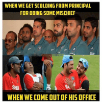Office, Star, and Time: WHEN WE GET SCOLDING FROMPRINCIPAL  FOR DOING SOME MISCHIEF  Star  WHEN WE COME OUT OF HIS OFFICE Every time 😂😂