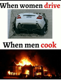 Memes, 🤖, and Women-Driving: When women drive  When men  cook Agree?