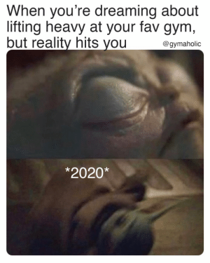 When you're dreaming about lifting heavy at your fav gym, but reality hits you.  Gymaholic App: https://www.gymaholic.co  #fitness #motivation #workout #gymaholic #meme: When you're dreaming about lifting heavy at your fav gym, but reality hits you.  Gymaholic App: https://www.gymaholic.co  #fitness #motivation #workout #gymaholic #meme