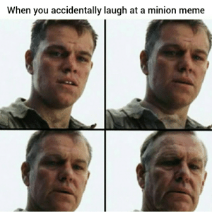 It all happened so fast: When you accidentally laugh at a minion meme It all happened so fast