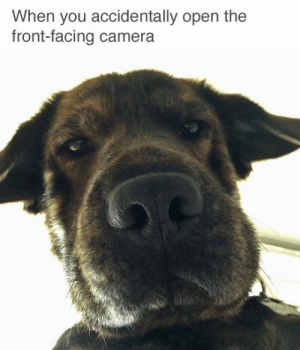 Front Facing Camera: When you accidentally open the  front-facing camera