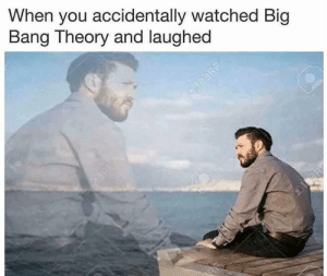 me irl by defactosithlord FOLLOW 4 MORE MEMES.: When you accidentally watched Big  Bang Theory and laughed  123RF me irl by defactosithlord FOLLOW 4 MORE MEMES.