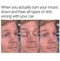 Memes, Music, and Shit: When you actually turn your music  down and hear all types of shit  wrong with your car. Then You Turn The Music Back Up...Because Ignorance Is Bliss 😂😂😂😂😂😂 pettypost pettyastheycome straightclownin hegotjokes jokesfordays itsjustjokespeople itsfunnytome funnyisfunny randomhumor