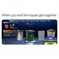 Lit, Squad, and Change: When you and the squad get together  LOBBY BATTLE PASS CHALLENGES LOCKER  LEVEL 19  Net Rasdy  SUGGESTED CHALLENGE  DAKY CHALLENGES  SQUAD  Q Change Mode  READY Whole squad lit! 😂 https://t.co/3Uy2Ecznsv