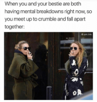 Fall, Snapchat, and Link: When you and your bestie are both  having mental breakdowns right now, so  you meet up to crumble and fall apart  together:  @i.am.link  ALL DELIVE Snapchat: bitchycodes