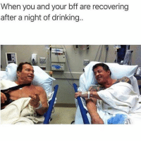 Drinking, Funny, and Instagram: When you and your bff are recovering  after a night of drinking. @epicfunnypage voted the funniest meme page on instagram 😂