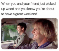 Weed, Fuck, and Marijuana: When you and your friend just picked  up weed and you know you're about  to have a great weekend Fuck yes!