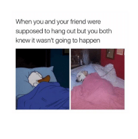 home sweet home: When you and your friend were  supposed to hang out but you both  knew it wasn't going to happen home sweet home
