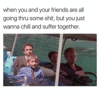 Anti social social club @mybestiesays: when you and your friends are all  going thru some shit, but you just  wanna chill and suffer together. Anti social social club @mybestiesays