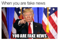 When you are fake news  YOU ARE FAKE NEWS I'm not sure I get this whole meme thing.