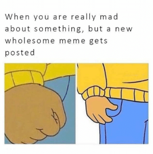 positive-memes:  Wholesome memes cure anger!: When you are really mad  about something, but a new  wholesome meme gets  posted positive-memes:  Wholesome memes cure anger!