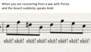 The Romans be like:: When you are recovering from a war with Persia  and the desert suddenly speaks Arab:  shit! shit! shit! shit! shit! shit! shit! shit! The Romans be like: