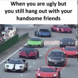 But friends are friends… ?: When you are ugly but  you still hang out with your  handsome friends But friends are friends… ?