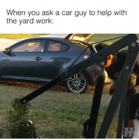 Using all the right tools 🙌🏻 📹:Lenard Sorongon: When you ask a car guy to help with  the yard work:  52 Using all the right tools 🙌🏻 📹:Lenard Sorongon