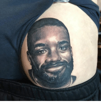 Memes, Tattoo, and 🤖: When you ask for a tattoo of Lacazette but get Darren Bent instead..