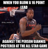 Warriors had 50 points that 3rd quarter! 😂 Crazy game! (Chris Paul didn't play) What'd you think of that game? 🤔 nbamemes nba_memes_24: WHEN YOU BLOW A 16 POINT  LEAD  @nba memes 24  AGAINST THE PERSONGIANNIS  POSTERED AT THE ALLSTAR GAME Warriors had 50 points that 3rd quarter! 😂 Crazy game! (Chris Paul didn't play) What'd you think of that game? 🤔 nbamemes nba_memes_24