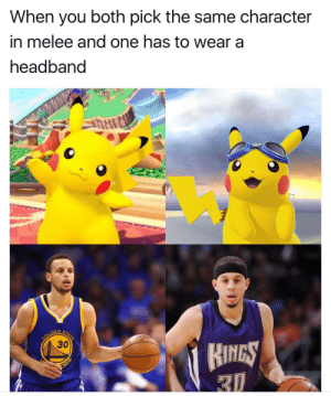 Smashing, Smash Bros, and Character: When you both pick the same character  in melee and one has to wear a  headband  6  DEN S  30  HINGS Smash bros