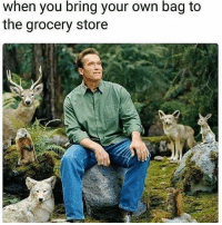 I love nature: when you bring your own bag to  the grocery store I love nature