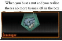 """Meme, Http, and Box: When you bust a nut and you realise  theres no more tissues left in the box  cavenper <p>Made this meme. Should I buy or sell? via /r/MemeEconomy <a href=""""http://ift.tt/2tKpxoK"""">http://ift.tt/2tKpxoK</a></p>"""