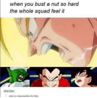 Friends, Goals, and Memes: when you bust a nut so hard  the whole squad feel it  shanlows Squad goals tag your friends yyc dbz squadgoals wholesome bust ogbois nut estonia