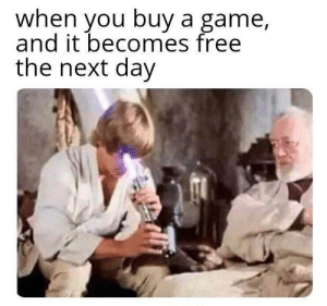 Unlucky by Rein_Cloud MORE MEMES: when you buy a game,  and it becomes free  the next day Unlucky by Rein_Cloud MORE MEMES
