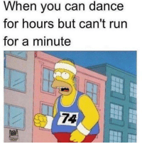 #miciadw: When you can dance  for hours but can't run  for a minute #miciadw