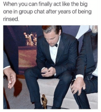Group Chat, Memes, and 🤖: When you can finally act like the big  one in group chat after years of being  rinsed 😂