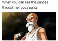 Android, Animals, and Bulma: When you can see the panties  through her yoga pants Roshi at his best ______ check out @worldofanime for sick anime shirts hoodies and more! ______ TAGS: < dbz> < dragonballz> < anime> < manga> < dbzmemes> < dragonballkai> < japanese> < saiyan> < cell> < bulma> < love> < shenlong> < goku> < vegeta> < trunks> < buu> < cabba> < android> < capsulecorp> < animelover> < otaku> < japan> < bandai> < piccolo> < whis> < beerus> < dragonball> < dbs> < amv>