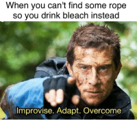 "Bleach, Http, and Haven: When you can't find some rope  so you drink bleach instead  Improvise. Adapt. Overcome <p>Haven't seen this before, rising stock or am I out of the loop? via /r/MemeEconomy <a href=""http://ift.tt/2hwVtUI"">http://ift.tt/2hwVtUI</a></p>"