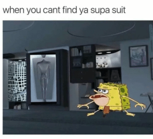 SpongeBob, Incredibles, and You: when you cant find ya supa suit Caveman Spongebob/Incredibles