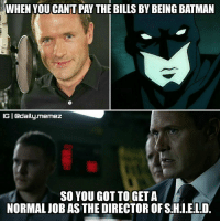 And I mean the actor... I know that Batman is rich... 😅 ~Quicksilver • Creator-Credit: @janisjulijs Original photo: ▪nerdophiles.com ▪tvlines.com • Follow @daily.memez Tag people Like & comment For More! • MCU movies movie batman ironman dc like4like like4follow follow4follow cw deadpool spidermanhomecoming wintersoldier directorofshield civilwar quake ageofultron agentcoulson spiderman jeffreymace apocalypse homecoming agentsofshield marvelstudios jasonomara superman wintersoldier shield comics: WHEN YOU CANT PAY THE BILLS BY BEING BATMAN  IGI Gadaily.memez  SO YOU GOT TO GET A  NORMAL UOB AS THE DIRECTOR OF SHALE!LD. And I mean the actor... I know that Batman is rich... 😅 ~Quicksilver • Creator-Credit: @janisjulijs Original photo: ▪nerdophiles.com ▪tvlines.com • Follow @daily.memez Tag people Like & comment For More! • MCU movies movie batman ironman dc like4like like4follow follow4follow cw deadpool spidermanhomecoming wintersoldier directorofshield civilwar quake ageofultron agentcoulson spiderman jeffreymace apocalypse homecoming agentsofshield marvelstudios jasonomara superman wintersoldier shield comics