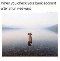Memes, Bank, and Labor Day: When you check your bank account  after a fun weekend  theblessedone Labor day weekend left me with empty pockets... 🤷‍♂️ (@_theblessedone)