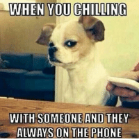 Side eye 😒😒😒 @shekeepsmebalanced: WHEN YOU CHILLING  WITH SOMEONE AND THEY  ALWAYS ON THE PHONE Side eye 😒😒😒 @shekeepsmebalanced