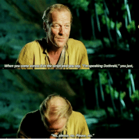 """@Regrann from @imadirewolf - Iain Glen about speaking dothraki in GoT😂 regrann GameofThrones: When you come across it in  the script and you say, I'm speaking Dothraki,""""you just,  """"No please, no. Please, no."""" @Regrann from @imadirewolf - Iain Glen about speaking dothraki in GoT😂 regrann GameofThrones"""