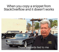 Java, Code, and Stackoverflow: When you copy a snippet from  StackOverflow and it doesn't works  Those bastards lied to me Copies a Java code snippet into a C# program