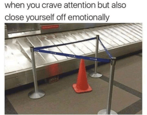 You, When You, and Attention: when you crave attention but also  close yourself off emotionally