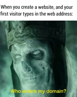Internet, Earth, and Lord of the Rings: When you create a website, and your  fırst visitor types in the web address:  Who enters my domain? Middle Earth Internet