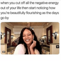 Energy, Gif, and Life: when you cut off all the negative energy  out of your life then start noticing how  you're beautifully flourishing as the days  go by  GIF 😁 You need to follow @scouse_ma @scouse_ma @scouse_ma @scouse_ma