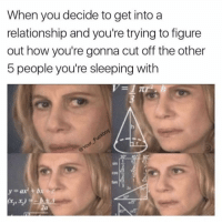 Fuckboy, Sleeping, and Girl Memes: When you decide to get into a  relationship and you're trying to figure  out how you're gonna cut off the other  5 people you're sleeping with  cos 2  tan Well arnt I in a pickle ( @your__fuckboy )