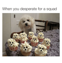 The struggle is real: When you desperate for a squad The struggle is real