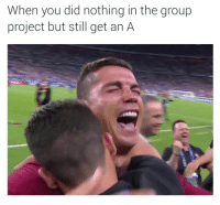 Blackpeopletwitter, Finals, and Klay Thompson: When you did nothing in the group  project but still get an A <p>Klay Thompson meme gonna have to retire after these Euro Finals (via /r/BlackPeopleTwitter)</p>