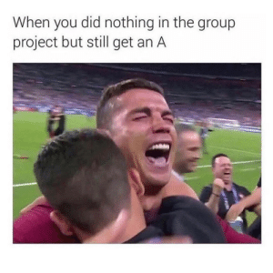 Did Nothing: When you did nothing in the group  project but still get an A