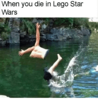 Lego, Star Wars, and Star: When you die in Lego Star  Wars