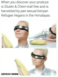 """Af, Dank, and Meme: When you discover your produce  is Gluten & Chem-trail free and is  harvested by pan-sexual Kenyan  Refugee Vegans in the Himalayas.  @TASTELESS CAVEMAN <p>Feeling healthy AF right now! via /r/dank_meme <a href=""""http://ift.tt/2k2zEBa"""">http://ift.tt/2k2zEBa</a></p>"""