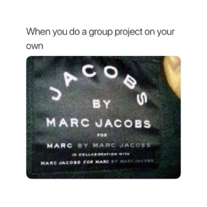 Marc Jacobs, Truth, and Project: When you do a group project on your  own  C O  BY  FOR  MARC BY MARC JACOBS  MARC JACOBS FOR MARC BY MARCJACOSS Truth 😂